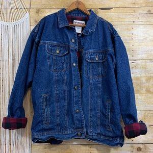 Wrangler Flannel Lined Denim Jacket